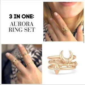 Stella & Dot Aurora Ring Set